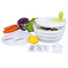 Salatschleuder inkl. Küchenreibe 4 Reibeeins. Gemüse Sieb Reibe Hobel Mehrzweckr