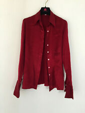 CACHAREL ,   wine red silk blouse  36