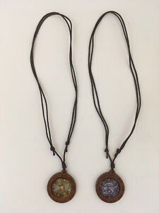 Mayan Aztec Necklace Pendant Jewelry - TWO Necklaces