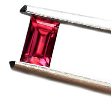 Certified Natural Untreated Red Color Ruby 0.27ct VVS Clarity Baguette 4.3x2.6mm