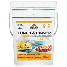 Augason Farms Lunch & Dinner Emergency Food Supply - 11lb Pail