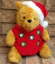 Disney Xmas Winnie Pooh Musical Bear Plush Animal-plays DeckTheHalls-Collectible