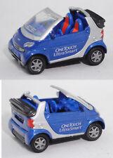 Siku Super 1042 smart fortwo cabrio, ONETOUCH / UltraSmart, Werbemodell, ca. 1:5