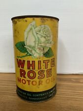 Vintage White Rose Motor Oil Quart - Canadian Oil Companies Limited - Oil Can