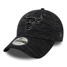 NEW ERA MENS CHICAGO BULLS BASEBALL CAP.NBA 9FORTY ENGINEERED GREY/BLACK HAT 8W2