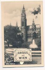 Leporello-Karte aus Wien, Rathaus    (F12)