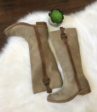 Jessica Simpson Riding Boots Brown Suede Leather Neutral Vanitiya Womens 9.5