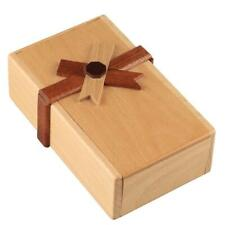 Puzzle Gift Case Box with Wooden Secret Compartments Money Box to Challenge