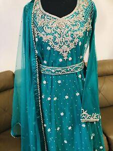 Asian Indian Pakistani Party Wear Wedding Wear  Medium Size Stitched
