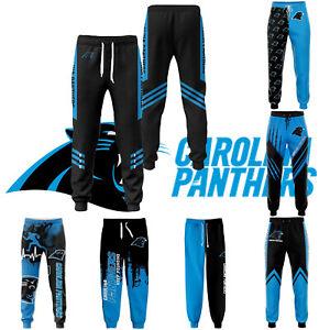Carolina Panthers Men Sweatpants Jogging Training Pants Sports Trousers All Size