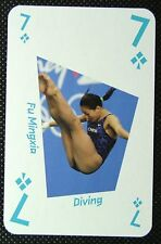 1 x playing card London 2012 Olympic Legends Fu Mingxia Diving 7C