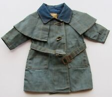 SHIRLEY TEMPLE 1930'S IDEAL OILCLOTH RAINCOAT w/ BELT FOR COMPOSITION DOLL