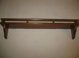 Homco Home Interior Wood Shelf Plate slot Rail Wall Decor  Railed
