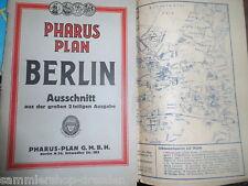 12200 Pharus Plan Berlin Mittel Ausgabe Straßenverzeichnis 20er Jahre 60x70 cm