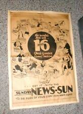 AMAZING 1935 Sunday Sun Newspaper Comic Strip Character Page Flash Gordon-MORE