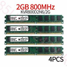 Kingston 8GB Kit 4x 2GB PC2-6400U DIMM DDR2 800MHz Desktop Intel Memory RAM ZT