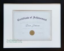 11x14 Black Solid Pine Wood Picture Photo Certificate Diploma Frame w/ White Mat