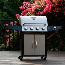 BBQ Gas Grill 4+1 Burner Backyard Patio Stainless Steel Barbecue Outdoor Cooking
