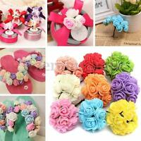12pcs 20mm Wedding Party Foam Rose Flowers For Card Making Craft Decoration