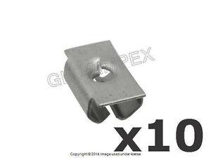Mercedes (1984-2018) Undercar Shield Clip Nut (Set of 10) O.E.M. + WARRANTY