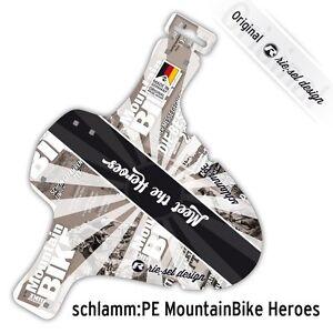 Bike Front Mudguard Fender Meet The Heroes Black/Silver Half Price By Rie:sel