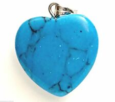 Blue Pendant Blue Howlite 2cm sterling silver bail necklace pendant