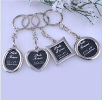 Vogue Insert Photo Picture Frame Custom Keyring Key Ring Keychain DIY Xmas Gift