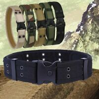 Tactical Military with Plastic Buckle Men's Belt Waistband Canvas Camouflage