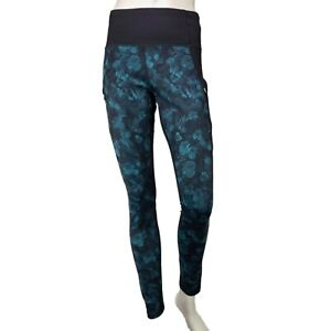 Athleta Womens Tights Frost High Traverse Abyss Size M Black Green 870941-01
