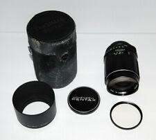 Tested Pentax Super Multi Coated Takumar 135mm f2.5 M42 Caps, Lens Hood, Case