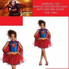 SUPERGIRL COSTUME GIRL CHILD TUTU DRESS CAPE GLOVE SUPERMAN HERO 3-4y Toddler