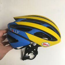 Small Bell Z20 Yellow Blue Rally Cycling MIPS Road Bike Helmet Size S