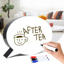 Speech Bubble LED Light Up Box Message Board Display Party Wedding w/3 Pens