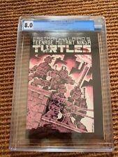 TMNT TEENAGE MUTANT NINJA TURTLES #1 CGC 8.0 Mirage 1985 3rd Print OWW Pages