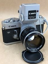 Canon Pellix QL Vintage 35mm Camera w/ 58mm f/1.2 FL lens & Booster -Works Great