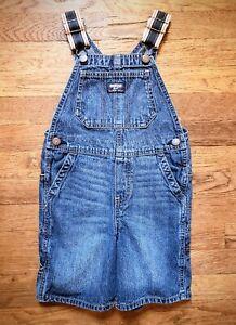 •°Oshkosh B'Gosh°• Child's 5T 100% Cotton Carpenter Bib Shortalls ♡Gently Worn♡