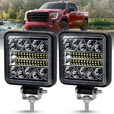 2x 4in Square Led Work Lights 13600LM CREE LED Flood Spot Beam Driving Light