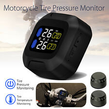 Motorcycle TPMS Tire Pressure Monitor System Tempreature Waterproof Wireless USB