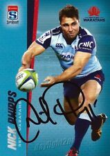✺Signed✺ 2017 NSW WARATAHS Rugby Union Card NICK PHIPPS