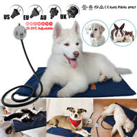 Heated Pet Bed Mat Cat Dog Whelping Box Puppy Electric Heat Pad Warm Blanket US