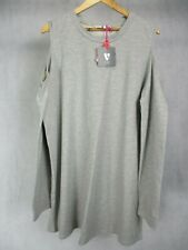 Ladies V by Very Grey Cold Shoulder Style Long Sleeve Baggy Top UK Size 22 EU 48