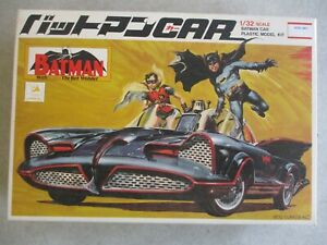 VINTAGE IMAI BATMAN CLASSIC TV SERIES BATMOBILE 1/32 SCALE MODEL KIT IN BOX