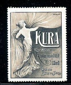 Germany Nude Women's Fashion Poster stamp 1912 Kura Automobile