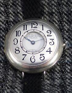 GENTS WALTHAM Silver Half Hunter Trench Wristwatch 1900`s A.Hawkins New York