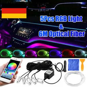 Auto RGB LED 6M Innenraumbeleuchtung Ambientebeleuchtung Lichtleiste Mit App DE