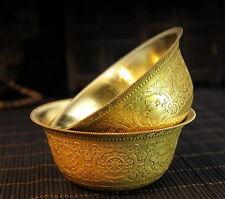Tibet Tibetan Buddhist Offering Copper Water Bowl Cup Divine Ritual Vessel M