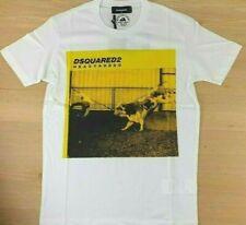 DSQUARED2 T-Shirt Herren Weiß mit Print Logo Gr. S-XXL