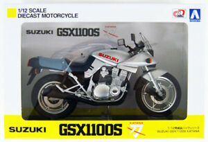 SUZUKI GSX1100S Katana SE 1981-2006 Silver/Blue - Diecast - 1:12 - AOSHIMA