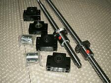 2 anti backlash ballscrew RM1605-1000/1500mm+end machine+ball nut+BKBF12 bearing
