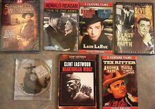 Western, Horror Classics Lot of 7 DVDs, John Wayne, Clint Eastwood